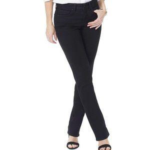 NWT NYDJ Black Marilyn Straight Jeans